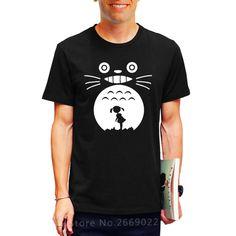 Summer Hayao Miyazaki Totoro Printed Mens Men T Shirt Camisetas Masculinas 2017 Manga Curta Free Shipping Tshirt