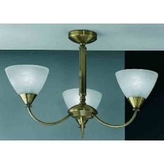 Franklite PE9663/786 Meridian 3 Light Ceiling Light Brushed Bronze