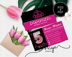 Paparazzi Business Cards,Paparazzi Pink and Gold Business Card, Editable PDF, Diy Printable Digital Files for Professional & Home Printing Gold Business Card, Business Cards, Printable Designs, Printables, Instagram Names, Paper Cards, Pink And Gold, Printing, Pdf