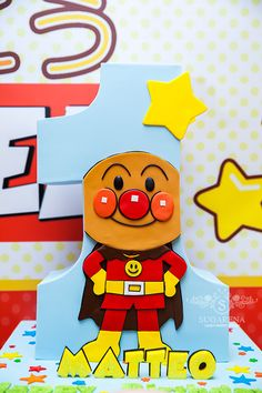 Anpanman cake made this for a friend 39 s son 39 s birthday for Anpanman cake decoration
