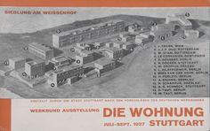 Willi Baumeister. 'Weissenhof' colony, postcard for the exhibition in Stuttgart 1927. 10.2 x 15.0 cm.