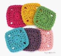 Cuadritos a crochet