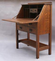 SOLD 2940. Arts & Crafts Secretary/Desk, Tables and Desks, Antique ...