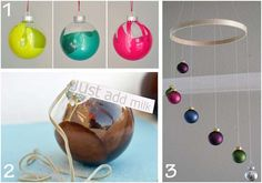 swirly ball ornaments, cocoa ball ornament