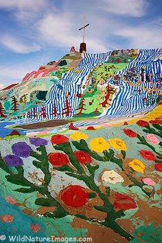 Salvation Mountain I have actually helped the old guy that built it his name is Leonard.