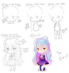 Was asked to draw a chibi anatomy tutorial, though this is simply just my process and I am in no way proclaiming to be a master of chibi drawing. Anatomy Tutorial, Art Sketches, Kawaii, Manga, Drawings, Chibi Drawing, Blog, Anime, Painting