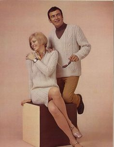 Cable & Oats • 1960s Dress Pullover Sweater V-Neck Patterns • 60s Vintage Cabled…