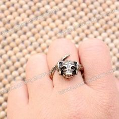 Punk Style Dog Head Shaped Alloy Finger Ring For Women (AS THE PICTURE,ONE SIZE) China Wholesale - Sammydress.com