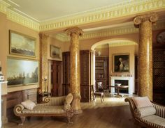 Decor Design Review - The library at Melford Hall, Suffolk
