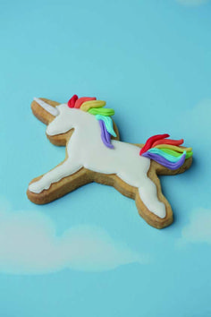 Use your #Unicorn #Cutter to cut out cookie dough. Place your Cutter upside down…