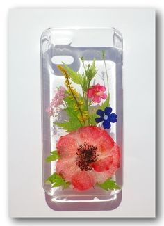 Handmade iphone 5/5S case, Resin with Real Flower, Pressed flower (17)