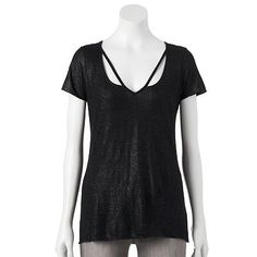 bb587ba5df33c Rock   Republic® Foiled V-Neck Tee - Women s