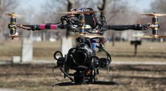 Shooting Aerial Imagery with a Canon C Cinema DSLR on a Drone Rig Air Drone, Drone Remote, Drone Technology, Futuristic Technology, Flying Vehicles, Flying Drones, Drone Quadcopter, Aerial Photography, Pilot