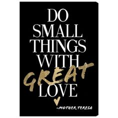 Offer a glam touch to your entryway or dining room with this stylish canvas print, featuring a Mother Teresa quote in bold typography.