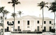 The Lauders' Palm Beach Mansion..I have seen this house..Barton Avenue had the most loveliest houses