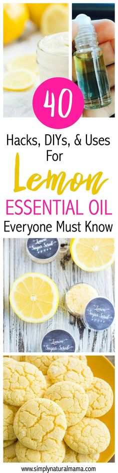 This was so awesome! I have a bottle of lemon essential oil that I didn't know what to do with. This post had 40 different hacks, diy projects, and uses. Now I have so many options! Thanks for sharing! via @simplynaturalma