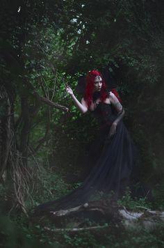 """The Unseelie Queen"" — Photographer: Sabrina Nielsen Model: Luna Nikita Assistant: Tenna Vinther Olesen"