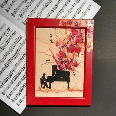 Painting handmade. Red music.