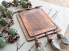 RESERVED Tree of Life Necklace Etched Copper by ATwistOfWhimsy, $39.00