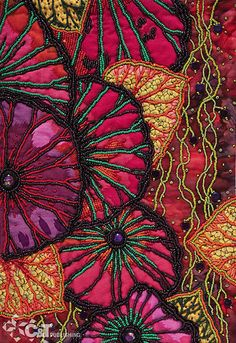 Beading Artistry for Quilts ~ By Thom Atkin C Publishing