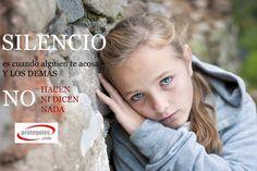 #Acoso #escolar: Silencio es cuando alguien te acosa y los demás no hacen ni dicen nada