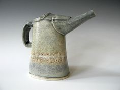 Small Hand Built Ceramic Pitcher- Industrial- Father's Day Sale - Free Shipping. $42.00, via Etsy.