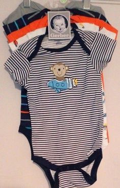 44dc264b6 Onesies Gerber Baby Multicolor Sz 6-9 Months Boys Five Piece #fashion # clothing