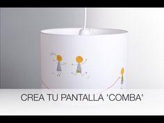 Crea tu pantalla para lámpara 'comba' - YouTube