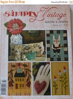 Easter SALE Book Quilts & Crafts Simply Vintage Spring 2015 #14 by Quiltmania Fast Shipping, BK163