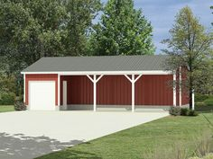 1000 images about pole shed designs on pinterest pole for Open front shed