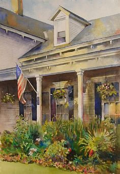 Nice defused light and shadow details.   Dawn in Weybridge by Randy Meador Watercolor ~ 20 x 14
