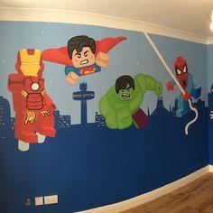 Superhero Wall Murals lego marvel superhero wall muralwww.custommurals.co.uk