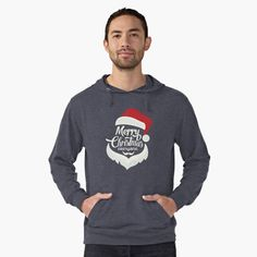 Christmas creative Santa Face Products Lightweight Hoodie Front