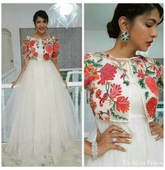 Long Gown Dress, Saree Dress, Dress Up, Anarkali Dress Pattern, Indian Gowns Dresses, Indian Fashion Dresses, Jacket Style Kurti, Jacket Lehenga, Pretty Dresses