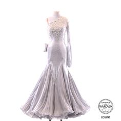 Chrisanne white grey modern dress