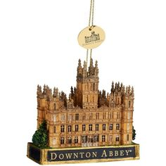 Kurt Adler Downtown Abbey Castle Ornament ($14) ❤ liked on Polyvore featuring home, home decor, holiday decorations, no color, resin ornaments, kurt adler and kurt adler ornaments
