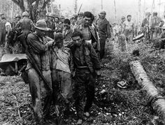 Guadalcanal is one of the most brutal and barbarous battle in the history of the USMC. Fought in diseased jungles in one of the most inhospitable islands on earth, the battle ended with a thorough Japanese defeat. Here, Jap POWs are escorted by US troops.