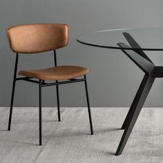 Sleek metal contours and buttery Mélange Cognac leather make up this striking statement seat by #calligaris. With as much comfort as elegance, this charming chair will be a beloved favorite for years to come. #NewandNotable