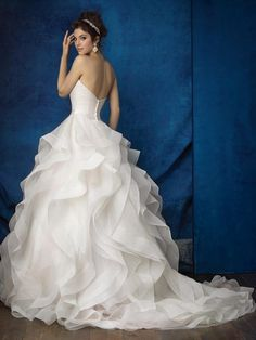 ca627c9b517 Allure Bridals 9375 Strapless Ruffle Ball Gown Wedding Dress