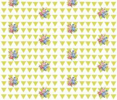 Aztec rose -citrene fabric by drapestudio on Spoonflower - custom fabric