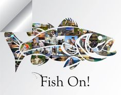 Your place to buy and sell all things handmade - Bass Fish Photo Collage Bass Fishing Bass Fish SVG