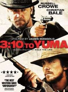 To Yuma Russell Crowe & Christian Bale. TO YUMA pairs two of today's finest actors, Academy Award winner Russell Crowe and Christian Bale, as an infamous outlaw and the struggling rancher who volunteers to deliver him to justice. Blu Ray Movies, Hd Movies, Movies To Watch, Movies Online, Movies And Tv Shows, Movie Tv, Movies Free, Action Movies, Lee Van Cleef