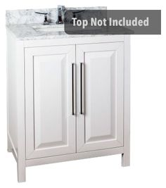 Cade Contempo 30'' vanity with sleek white finish and clean, leading-edge design VAN104-30