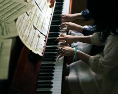 like Genevieve and Merlin . . . MERLIN CAN TEACH GENEVIEVE TO PLAY THE PIANO!!!! genius