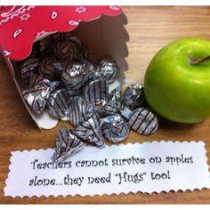 Teacher Appreciation gift idea - different sign, but cute idea for teachers lounge candy jar Teacher Treats, School Treats, School Gifts, Student Gifts, Teacher Gifts, Student Teacher, School Teacher, Teacher Thank You, Thank You Gifts