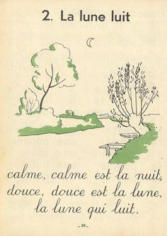 i love these simple verses from this vintage book...would make lovely posters. more vintage french kid books http://www.flickr.com/photos/taffeta/collections/72157613357352888/