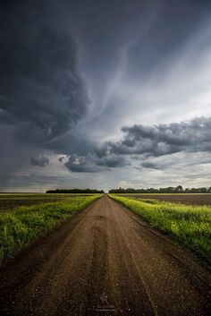 ***Rural dirt road on a stormy day (South Dakota) by Aaron Groen on 500px cr.c.