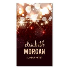 Makeup Artist - Modern Glitter Sparkle Business Card. I love this design! It is available for customization or ready to buy as is. All you need is to add your business info to this template then place the order. It will ship within 24 hours. Just click the image to make your own!