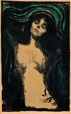 Edvard Munch Madonna - Munch was unique because he believed in distortion and emotion which created expressionism