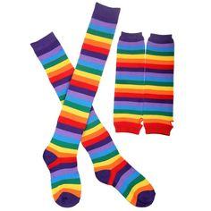 Starew Womens Socks Over Knee Thigh High Socks £¬Womens Rainbow Stripe Knee Thigh High Socks Arm Warmer Fingerless Gloves Striped Thigh High Socks, Striped Gloves, Striped Knit, Striped Socks, Crochet Leg Warmers, Arm Warmers, Knee High Stockings, Rainbow Socks, Fingerless Gloves Knitted